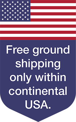 Free ground shipping only within continental USA.